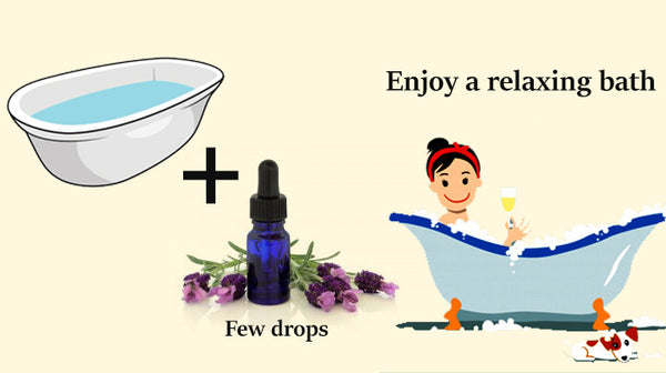 lavender essential oil for a relaxing bath
