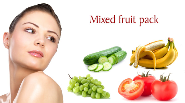 mixed fruit pack for a brighter skin during puja