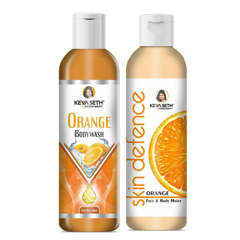 Complete Winter Care Combo with Orange Body wash 200ml + Skin Defence Orange Face & Body Moisturizer 200ml