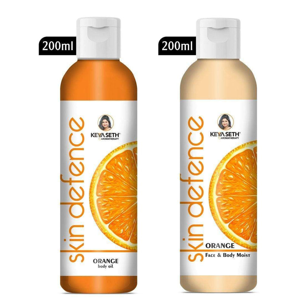 Complete Winter Skin Care Combo Enriched with Vitamin C, Skin Defence Orange Body oil 200ml + Orange Face & Body Moisturizer 200ml