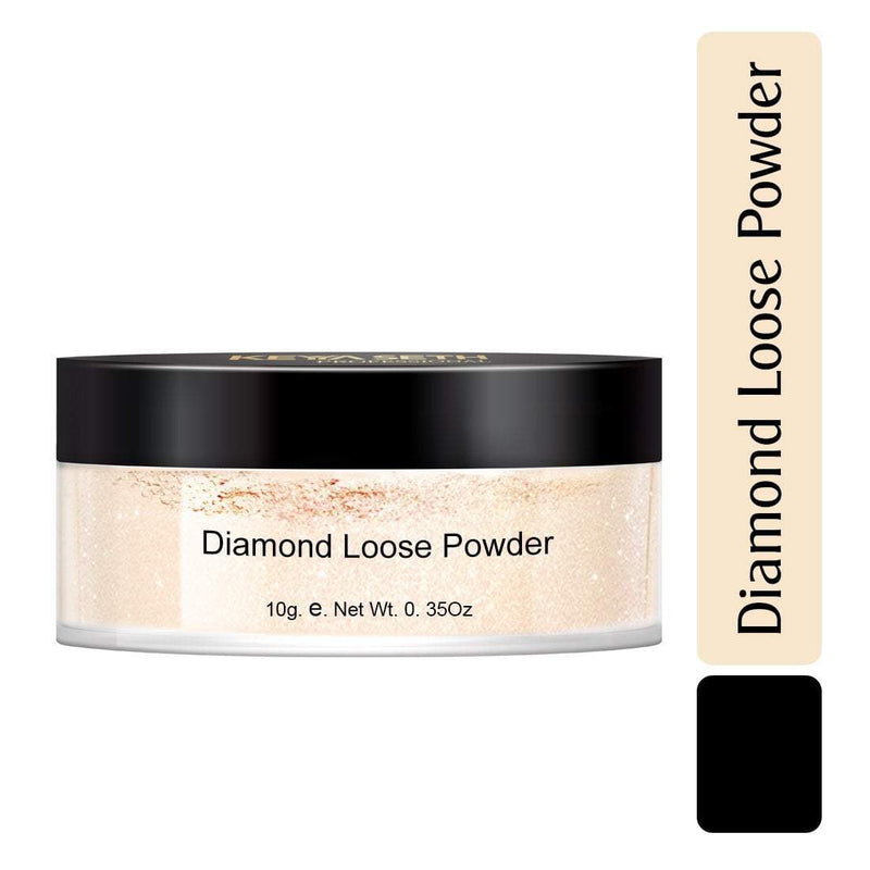 Diamond Loose Powder Natural Glow & Shimmer, Ultra- Fine Translucent, Feather Light Finishing Powder, (10 gm)