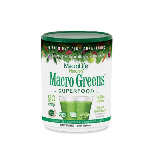 MacroLife Naturals Macro Greens Nutrient-Rich Super Food 30oz - AdvantageSupplements.com
