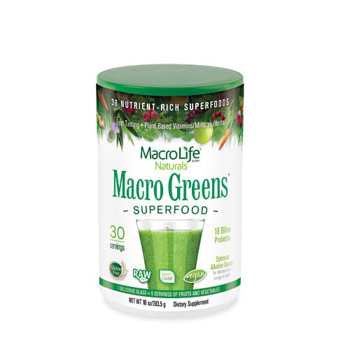 MacroLife Naturals Macro Greens Nutrient-Rich Super Food 10oz - AdvantageSupplements.com