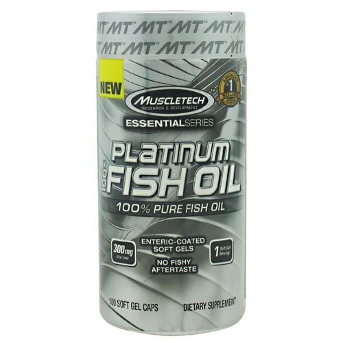 MuscleTech Essential Series 100% Platinum Fish Oil 100softgels - AdvantageSupplements.com