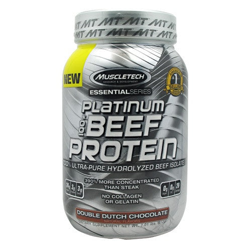 Muscletech Essential Series 100% Platinum Beef Protein 2lbs - AdvantageSupplements.com