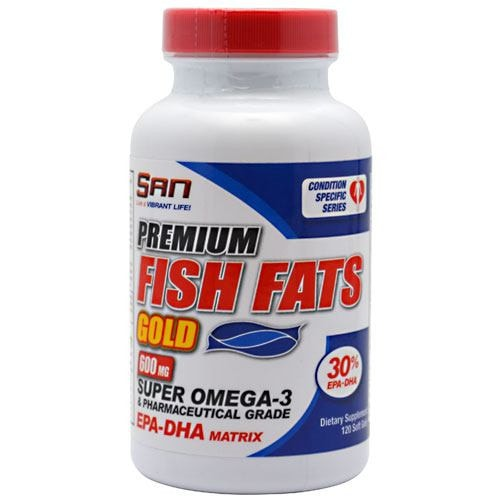 SAN Fish Fats Gold 120softgels - AdvantageSupplements.com