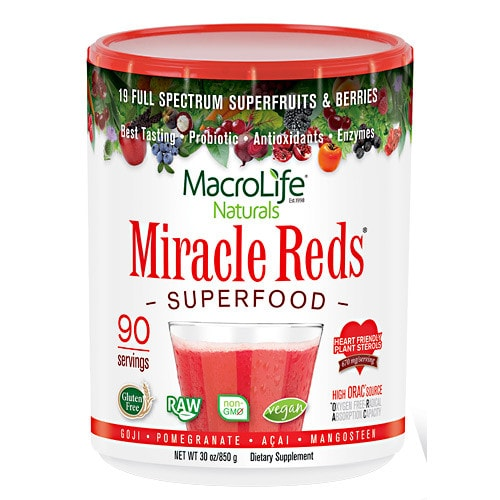 MacroLife Naturals Miracle Reds Antioxidant Superfood 30oz - AdvantageSupplements.com