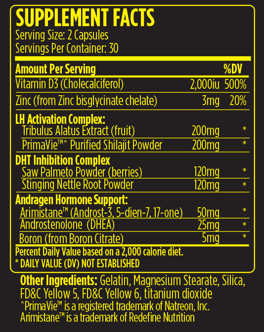 VMI Sports A-XR PCT Nutrition facts