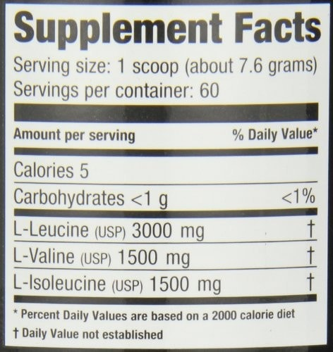 Ultimate Nutrition BCAA 12,000 Nutrition facts