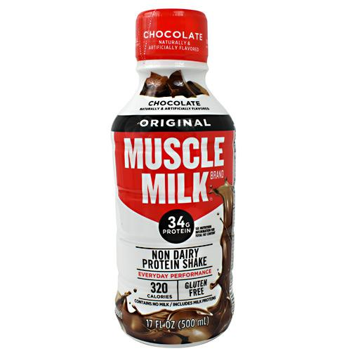 Cytosport Muscle Milk RTD 17oz Chocolate (12 bottles) (Best By: 12/26/19) - AdvantageSupplements.com
