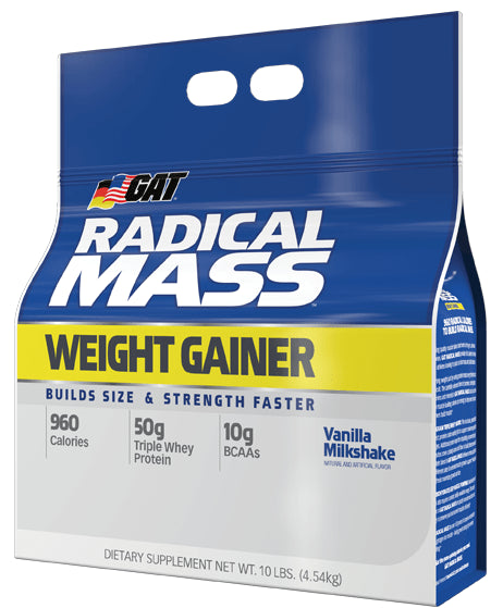 GAT Radical Mass Weight Gainer 10lbs - AdvantageSupplements.com