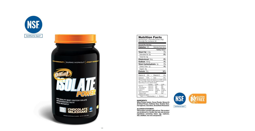 ISS OhYeah! Isolate Power Nutrition facts