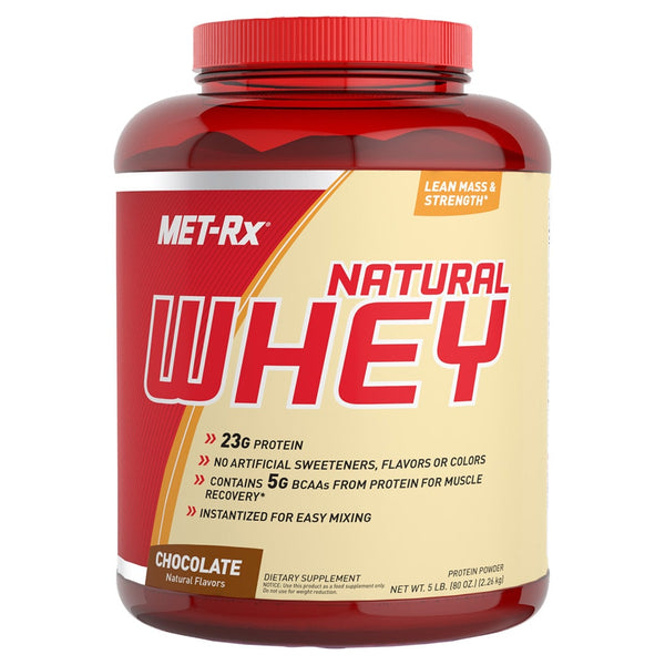 MET-RX Natural Whey Protein 5lbs - AdvantageSupplements.com