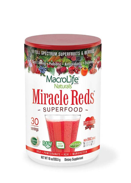 MacroLife Naturals Miracle Reds Antioxidant Superfood 10oz - AdvantageSupplements.com