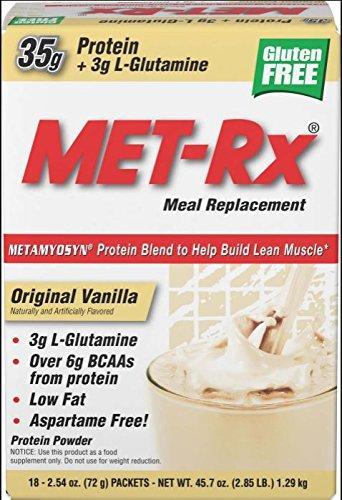 MET-Rx Meal Replacement Protein Powder (18 packets) - AdvantageSupplements.com