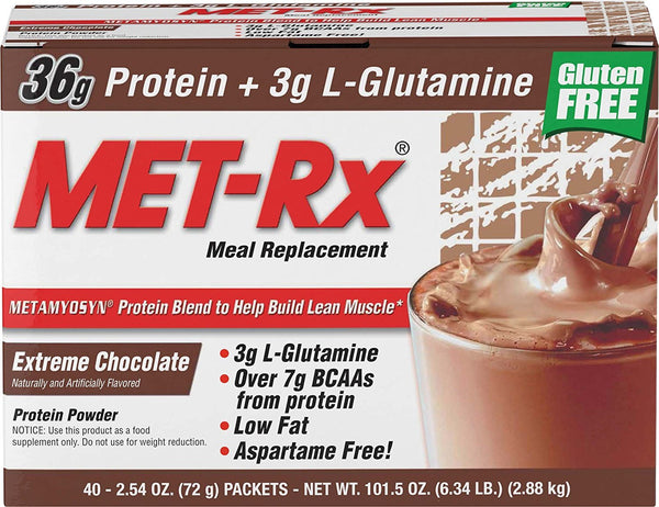 MET-Rx Meal Replacement Protein Powder (40 packets) - AdvantageSupplements.com
