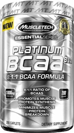 MuscleTech Essential Series Platinum BCAA 8:1:1 200caps - AdvantageSupplements.com