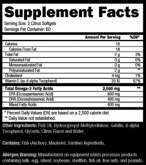 Controlled Labs Orange OxiMega 120softgels - AdvantageSupplements.com