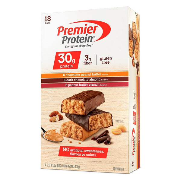 Premier Protein High Protein Bars 18 per box