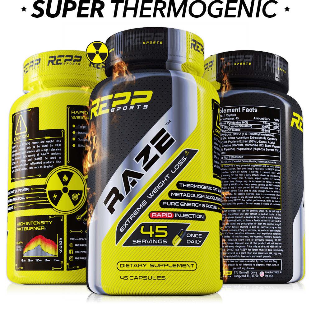 Repp Sports Raze Extreme Fat Burner (45 caps) - AdvantageSupplements.com