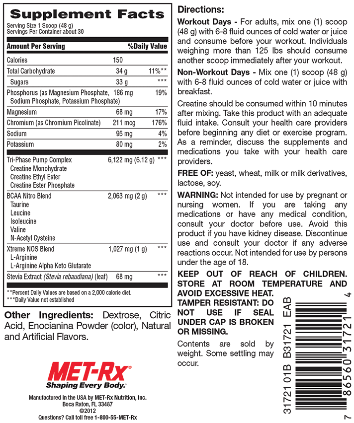 MET-Rx Advanced Creatine Blast 3.17lbs - AdvantageSupplements.com