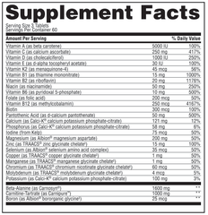 Gaspari Nutrition Anavite Nutrition facts