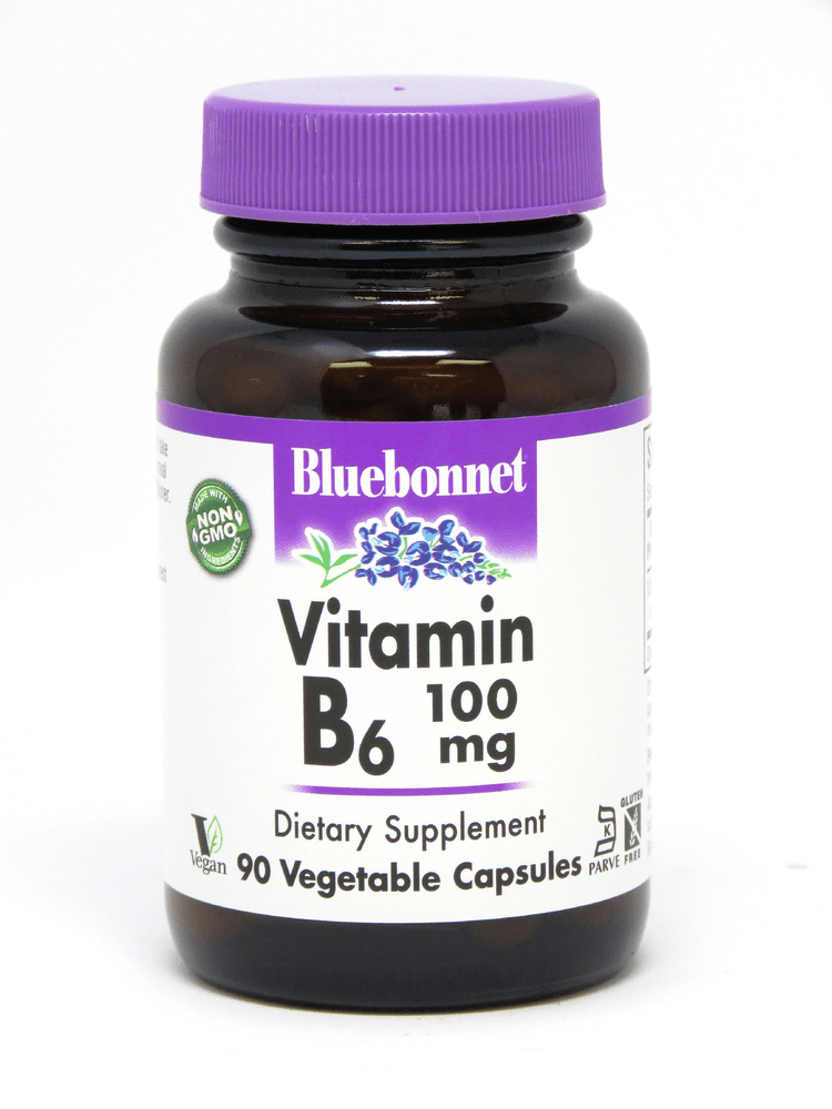 Bluebonnet Nutrition Vitamin B6 100mg 90vcaps