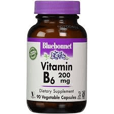 Bluebonnet Nutrition Vitamin B6 200mg 90vcaps