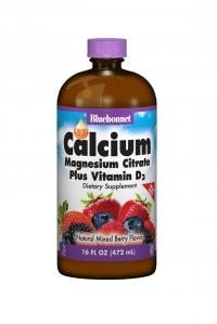 Bluebonnet Nutrition Liquid Calcium Magnesium Citrate Plus Vitamin D3 16 fl. oz. - AdvantageSupplements.com