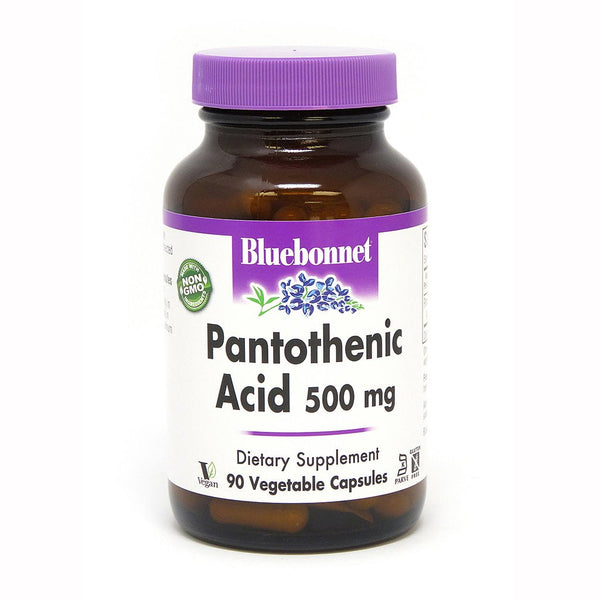 Bluebonnet Nutrition Pantothenic Acid 500mg 90 Veggie Caps