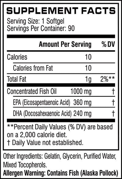 Cellucor COR-Performance Series Fish Oil 90softgels - AdvantageSupplements.com