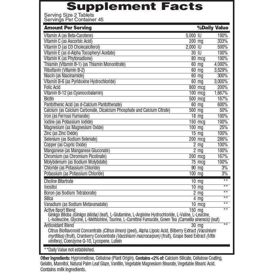 MET-Rx Active Woman Nutrition facts