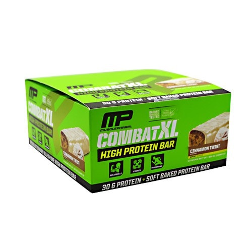 MusclePharm Combat XL High Protein Bar 12ct - AdvantageSupplements.com
