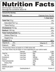 Gaspari Nutrition MyoFusion Advanced Protein Nutrition facts