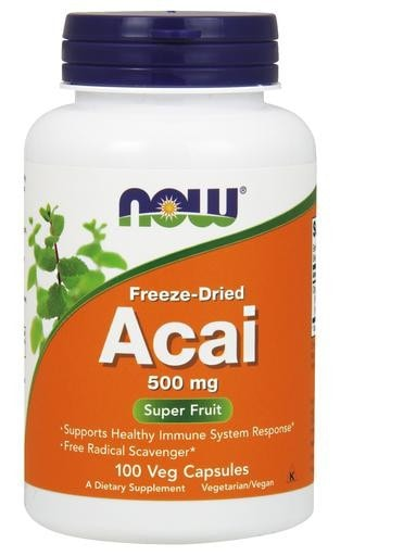 NOW Foods Acai (Freeze-Dried) 500mg 100 Veggie Caps - AdvantageSupplements.com