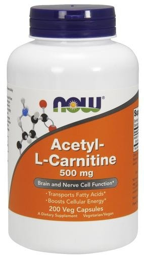 NOW Foods Acetyl-L-Carnitine 500mg 200 Veggie Caps