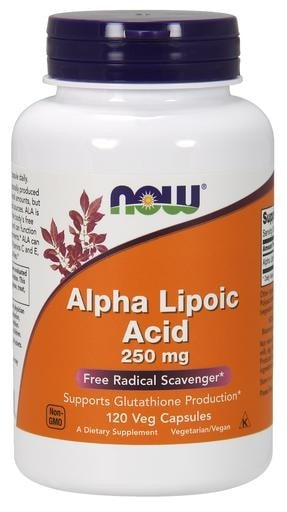 NOW Foods Alpha Lipoic  Acid 250mg 120 Veggie Caps - AdvantageSupplements.com