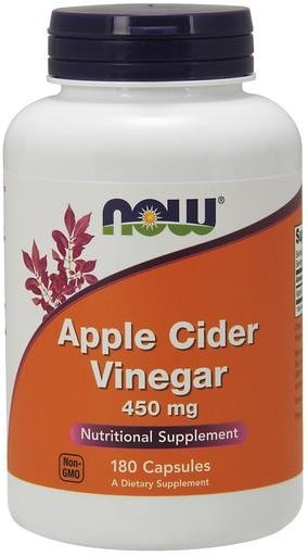 NOW Foods Apple Cider Vinegar 450mg 180caps - AdvantageSupplements.com