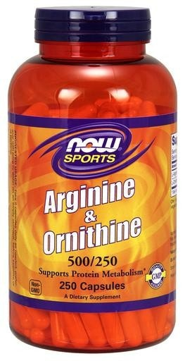NOW Foods Arginine 500mg & Ornithine 250mg  250caps - AdvantageSupplements.com