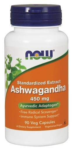 NOW Foods Ashwagandha 450mg 90 Veggie Caps - AdvantageSupplements.com
