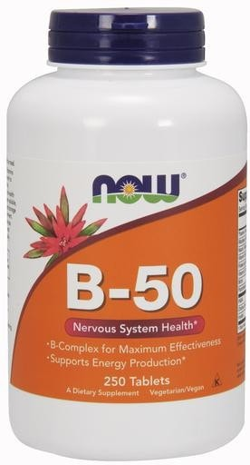 NOW Foods B-50 250tabs - AdvantageSupplements.com