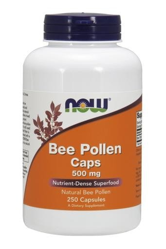 NOW Foods Bee Pollen Caps 500mg 250caps - AdvantageSupplements.com