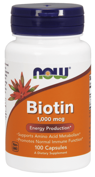 NOW Foods Biotin 1000mcg 100caps - AdvantageSupplements.com
