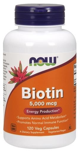NOW Foods Biotin 5000mcg 120 Veggie Caps - AdvantageSupplements.com