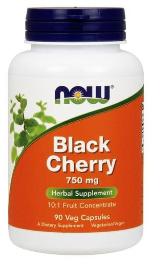 NOW Foods Black Cherry 750mg 90 Veggie Caps - AdvantageSupplements.com