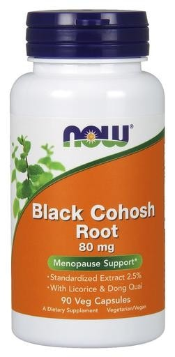 NOW Foods Black Cohosh Root 80mg 90 Veggie Caps - AdvantageSupplements.com