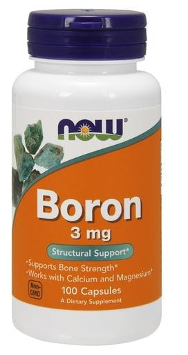 NOW Foods Boron 3mg 100caps - AdvantageSupplements.com