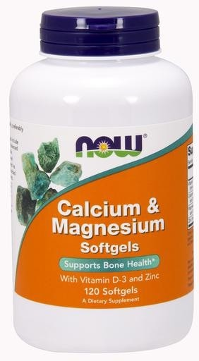 NOW Foods Calcium & Magnesium with Vitamin D-3 and Zinc 120softgels