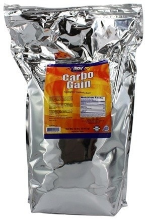 NOW Foods Carbo Gain 100% Complex Carbohydrate 12lbs - AdvantageSupplements.com