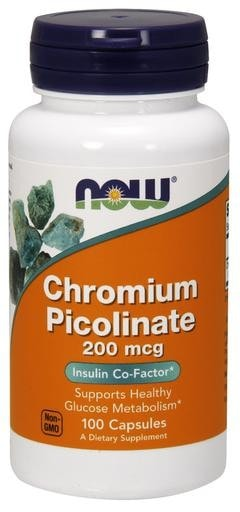 NOW Foods Chromium Picolinate 200mcg 100caps - AdvantageSupplements.com